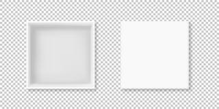 Иллюстрация вектора взгляд сверху белой коробки открытая иллюстрация штока