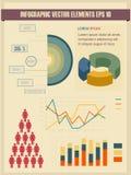 Иллюстрация вектора детали infographic. Стоковые Изображения