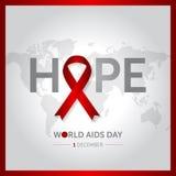Иллюстрация вектора дизайна концепции Международного дня СПИДА 1-ое декабря бесплатная иллюстрация
