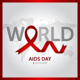 Иллюстрация вектора дизайна концепции Международного дня СПИДА 1-ое декабря иллюстрация штока