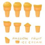 Иллюстрация вектора для естественного мороженого Стоковое Изображение