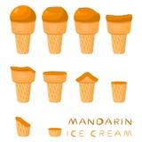 Иллюстрация вектора для естественного мороженого Стоковая Фотография