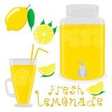 Иллюстрация вектора для лимона цитрусовых фруктов куска Стоковые Фотографии RF
