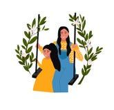 Иллюстрация вектора дня матерей иллюстрация штока