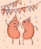 Иллюстрация вектора дня почки мира Почки шаржа празднуют праздник Стоковые Изображения RF
