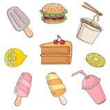 Иллюстрация вектора еды Seth На белой предпосылке иллюстрация штока