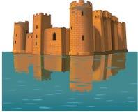 Иллюстрация вектора замка Bodiam бесплатная иллюстрация