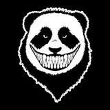 Иллюстрация вектора злой головы панды иллюстрация штока