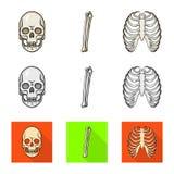 Иллюстрация вектора знака медицины и клиники Собрание медицины и медицинский значок вектора для запаса иллюстрация вектора