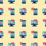 Иллюстрация вектора знания плоского книжного магазина подготовки персонала образования значков дизайна онлайн дистантная уча безш Стоковое Изображение