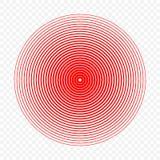 Иллюстрация вектора значка круга боли иллюстрация штока