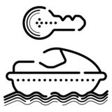 Иллюстрация вектора значка скутера воды иллюстрация вектора