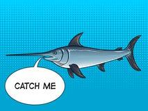 Иллюстрация вектора искусства шипучки меч-рыб Стоковые Фото