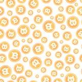 Иллюстрация вектора картины Bitcoin безшовная Стоковая Фотография