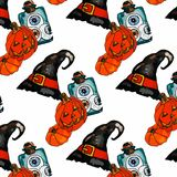 Иллюстрация вектора комплекта хеллоуина Стоковая Фотография RF