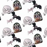 Иллюстрация вектора комплекта хеллоуина Стоковое Фото