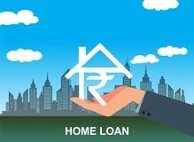 Иллюстрация вектора концепции ипотечного кредита банка стоковые фотографии rf