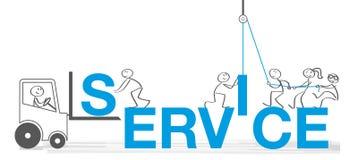 Иллюстрация вектора концепций обслуживания клиента иллюстрация вектора