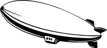 Иллюстрация вектора летания дирижабля блимпа бесплатная иллюстрация