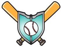 Иллюстрация вектора логотипа бейсбола Стоковые Изображения RF