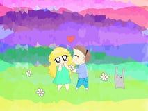Иллюстрация вектора людей в любов бесплатная иллюстрация