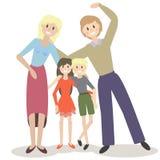 Иллюстрация вектора милой семьи Стоковое Изображение RF