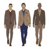 Иллюстрация вектора мужской моды Стоковые Изображения RF
