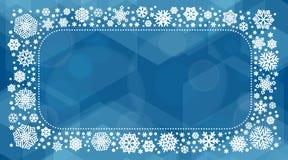 Иллюстрация вектора Нового Года 2018 с белыми снежинками Стоковое Фото