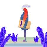 иллюстрация вектора образования Девушка с книгой Стоковое Фото