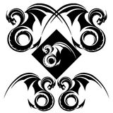 Иллюстрация вектора орнамента дракона Стоковые Фото