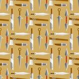 Иллюстрация вектора оружия ножа опасная копья шпаги окаимила картину штифта andbonder боя оружий безшовную иллюстрация вектора