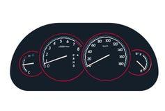 Иллюстрация вектора панели метра автомобиля иллюстрация вектора