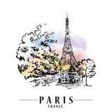 Иллюстрация вектора Парижа Стоковое Фото