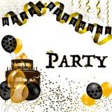 Иллюстрация вектора партии с днем рождения Стоковое Изображение