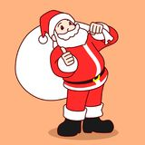 Иллюстрация вектора персонажа из мультфильма Санта Клауса Стоковые Фотографии RF