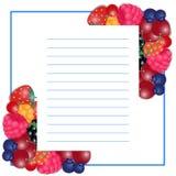 Иллюстрация вектора писчей бумаги с ягодами бесплатная иллюстрация