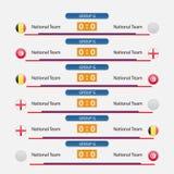 Иллюстрация вектора план-графика футбольного матча Стоковая Фотография RF
