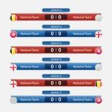Иллюстрация вектора план-графика футбольного матча Стоковая Фотография