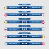 Иллюстрация вектора план-графика футбольного матча Стоковое фото RF