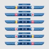 Иллюстрация вектора план-графика футбольного матча Стоковое Изображение