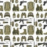 Иллюстрация вектора предпосылки картины воинского камуфлирования боеприпасов бойца сил панцыря оружи оружия американского безшовн бесплатная иллюстрация