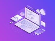 Иллюстрация вектора разработки программного обеспечения равновеликая бесплатная иллюстрация