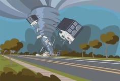Иллюстрация вектора разрушительного урагана иллюстрация вектора