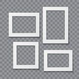 Иллюстрация вектора рамки фото реалистическая Стоковое Изображение RF