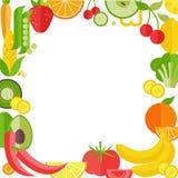 Иллюстрация вектора рамки фрукта и овоща бесплатная иллюстрация
