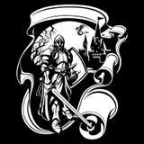Иллюстрация вектора рыцаря Стоковая Фотография