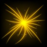 Иллюстрация вектора светового луча конспекта золотая иллюстрация вектора