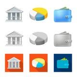 Иллюстрация вектора символа банка и денег Собрание значка вектора банка и счета для запаса бесплатная иллюстрация