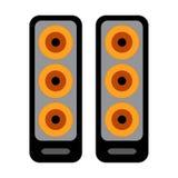 Иллюстрация вектора системы дикторов звука †значка музыки «басовая Стоковые Фотографии RF