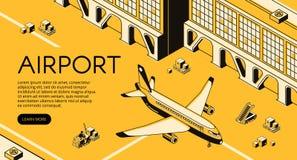 Иллюстрация вектора снабжения перевозки авиапорта иллюстрация вектора